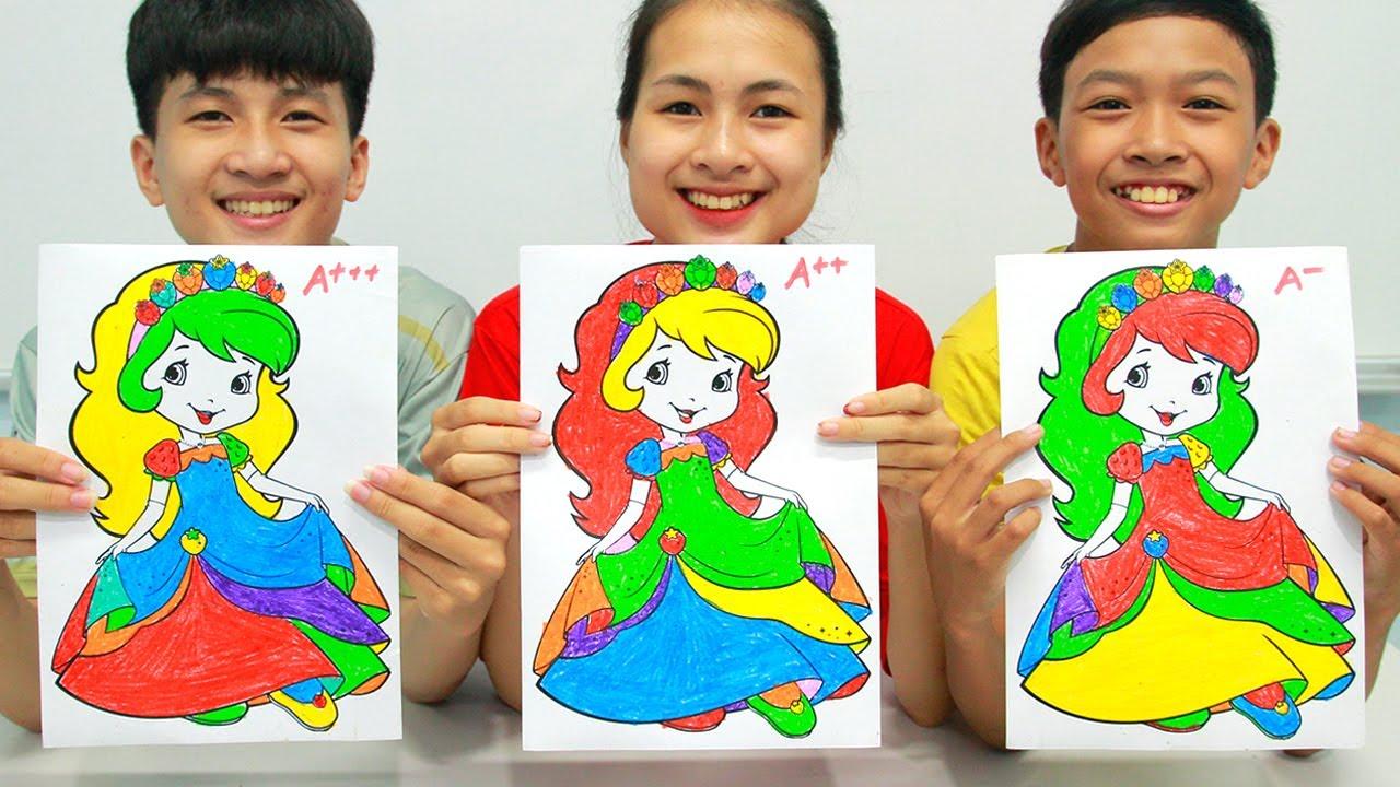Putri Stroberi Berkilauan, Warna Warni Belajar Menggambar dan Mewarnai untuk Anak