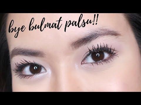 LENTIK & TEBAL TANPA BULU MATA PALSU (cara pakai mascara + fiber)