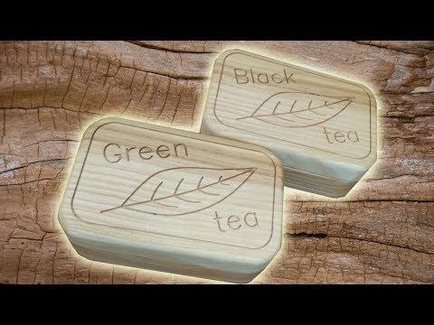 CNC.  Simple boxes for tea