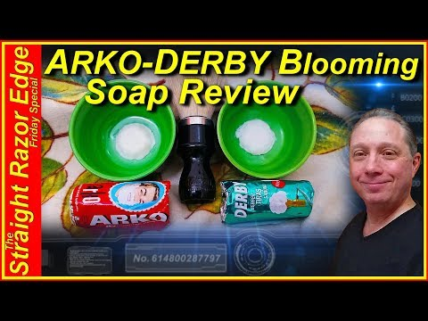 Best ARKO and DERBY Shave Soap Review, Straight Razor Edge Friday Special
