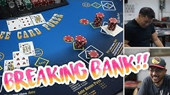 BREAKING BANK in Three Card Poker!! - Live Three Card Poker Session