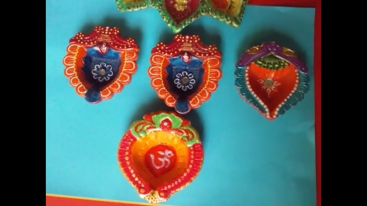 Diwali diya decoration ideas at home home decor ideas for for Diya decoration youtube