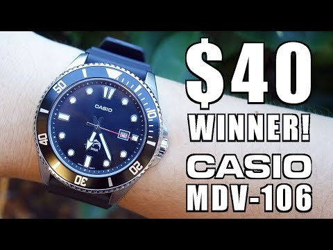 $40 Awesomeness! Casio Duro MDV-106 Quartz Dive Watch Review - Perth WAtch #109