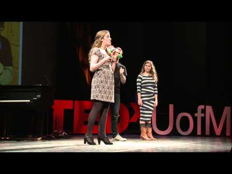 Acting out! Alex Madda and Mary Naoum at TEDxUofM