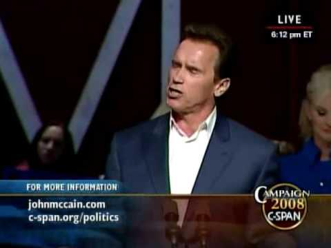 Gov. Arnold Schwarzenegger For John McCain