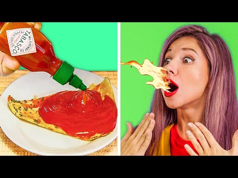 EXTREME PAUSE CHALLENGE WITH SPICY FOOD || Gymnastics Battle and Funny Challenges by123 GO! GOLD
