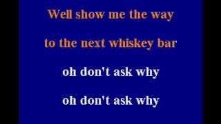 The Doors -  Alabama Song - Karaoke