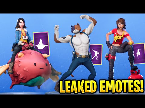*NEW* Fortnite Leaked Emotes.! (Boom!, Ollie Bounce, Swole Cat, Advanced Math) Season 2