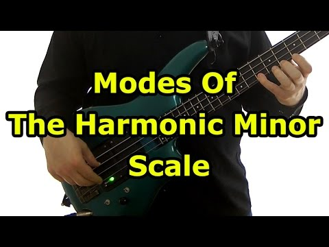 Harmonic Minor Modes For Bass Guitar