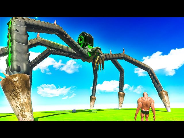 Is GIANT MECH SPIDER The End of GODZILLA? - Animal Revolt Battle Simulator