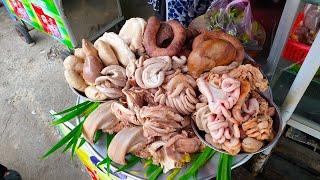 Ngon hết sẩy mâm lòng lợn luộc theo kiểu Bắc của cô 3 ở Sài Gòn