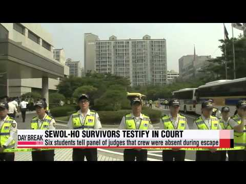 Surviving students of Sewol-ho ferry disaster testify