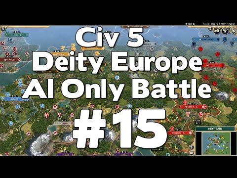 Civ 5 Deity Europe AI Only Battle #15