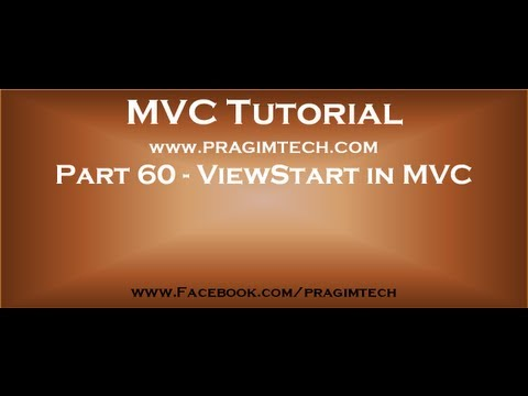 Part 60   ViewStart In Asp Net Mvc