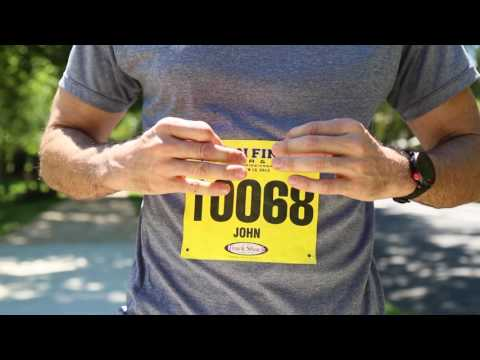 Running Hack! Easiest way to put on race bib perfectly every time!    www.BibMagnets.com