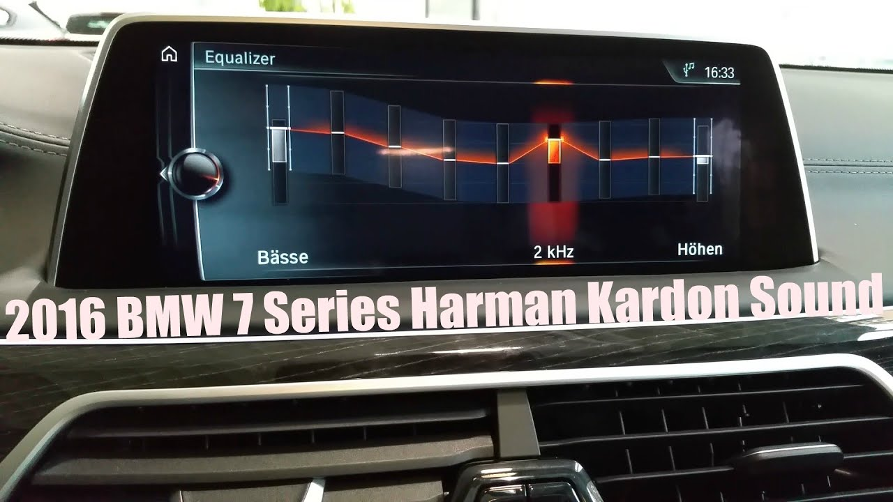 2016 Bmw 7 Series Harman Kardon Surround Sound System