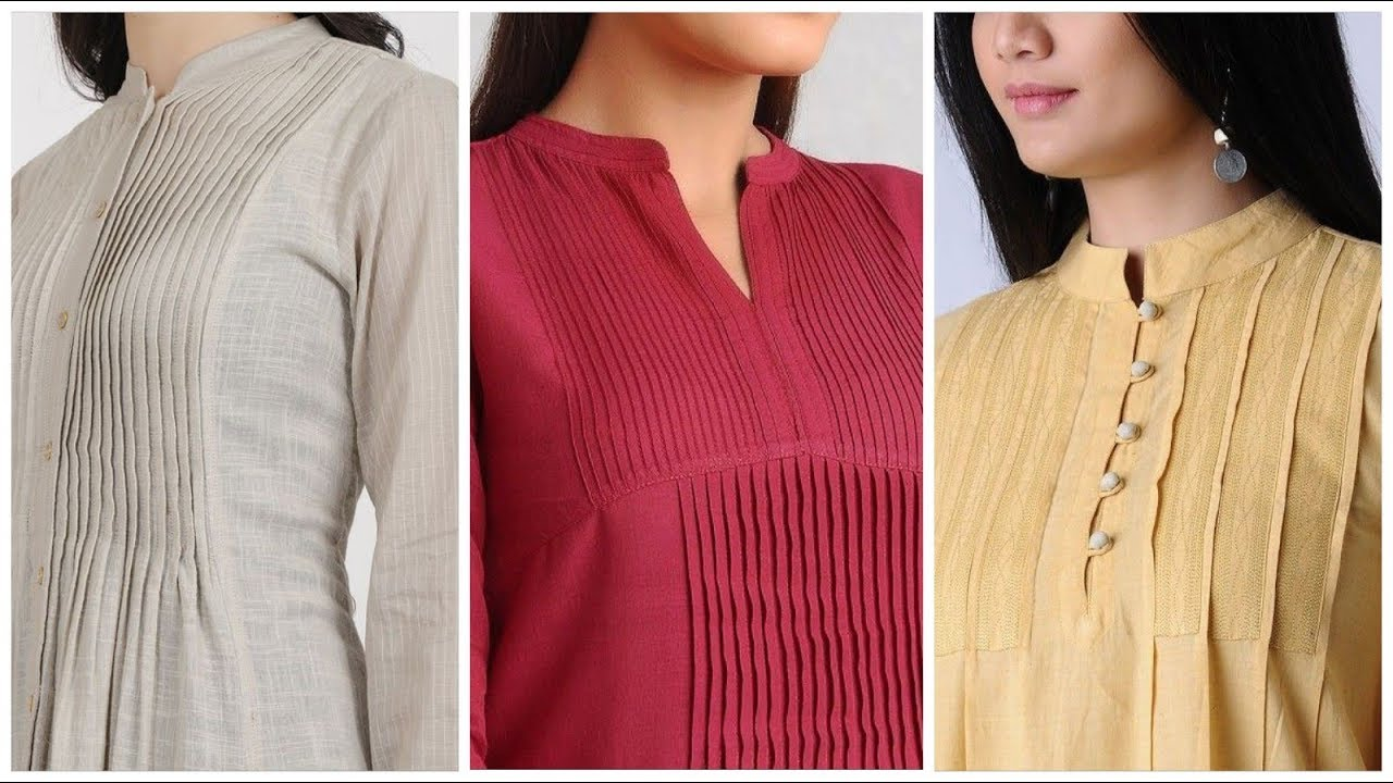 [VIDEO] - 30 trendy latest upcoming fashion trends of pleated neckline designes ideas 1