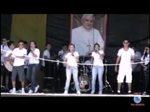 Apresentação da banda Catolicu's de Apodi da Romaria da Juventude 2012