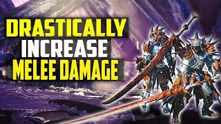 DRASTICALLY INCREASE YOUR WEAPON DAMAGE! Huge Melee Damage Increase Trick! Monster Honter World