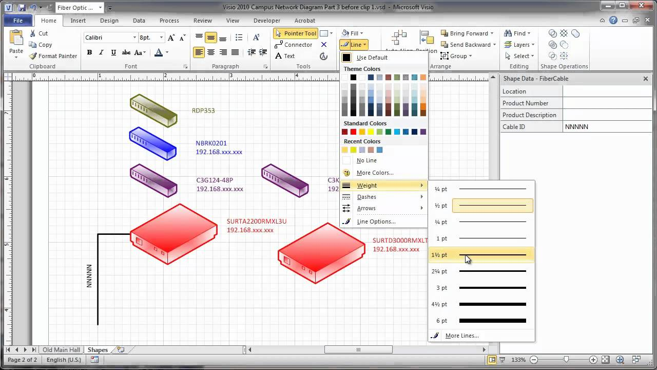 maxresdefault visio 2010 campus network physical diagram part 3 add layers and  at virtualis.co