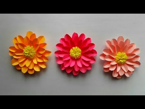 Easy to make Paper Flowers | DIY Beautiful paper flower - Paper craft || SUNIL CREATION