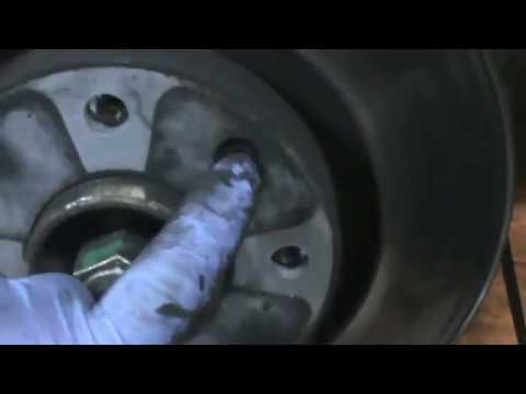 Citroen C3.  Replace front brake pads and discs. Video 18 of 20.