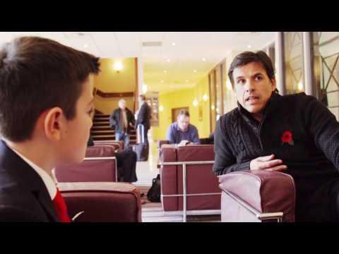 Sports Ambassador Oliver Edwards interviews Chris Coleman