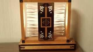 Wood Table Lamp 1. (나무 탁상 조명램프).