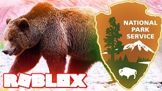 GRIZZLY BEAR NATIONAL PARK IN ROBLOX (Family Friendly Clean Animals Lets Play Roleplay For Children)