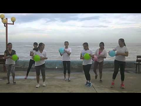 P E  Dance Exercise Using Beachball