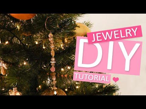 DIY Tutorial: kerstboom kristal hanger