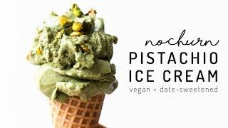 No-Churn Vegan Pistachio Ice Cream {banana and coconut free!}