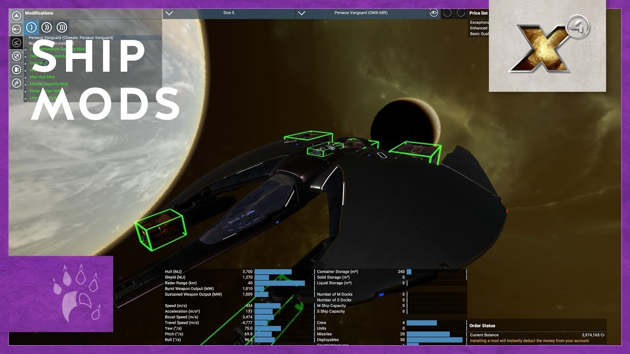 Ship Modifications - Quick Tip | X4: Foundations