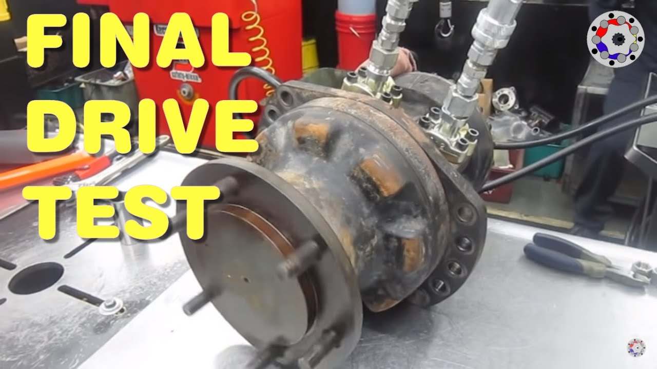 Final drive hydraulic motor test youtube Hydraulic motor testing