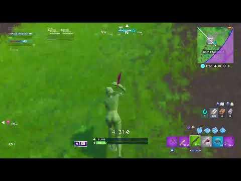 Fortnite battle royal playing with dash key