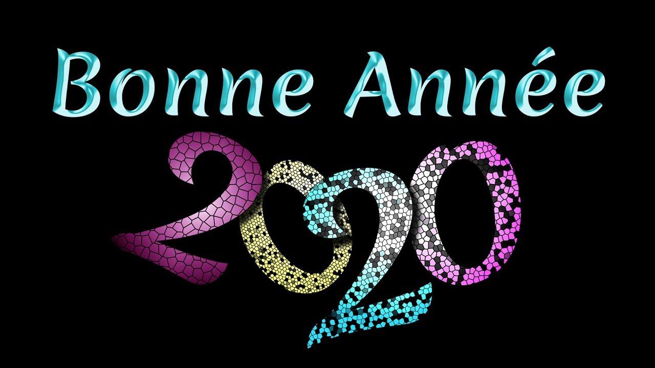 carte de voeux animée 2020 Jolie carte de Vœux virtuelle 2020   Bonne Année 2020   YouTube