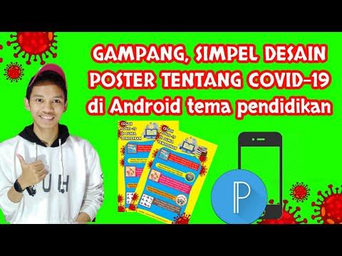 Gampang Dan Simpel Desain Poster Covid 19 Corona Di Android Tema Pendidikan Youtube