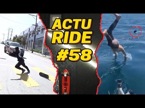 ACTU RIDE #58 : Il tombe nez à nez avec un requin, Un skateur frôle la mort, surf, skate et ski !