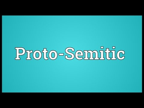 Proto-Semitic Meaning
