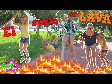 EL SUELO ES LAVA   THE FLOOR IS LAVA CHALLENGE - DivertiGuay
