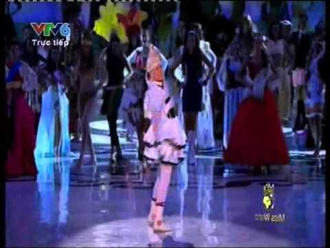 Hoa hậu thế giới 2012 - Chung kết - Trang phục dân tộc - Hoa hau the gioi 2012