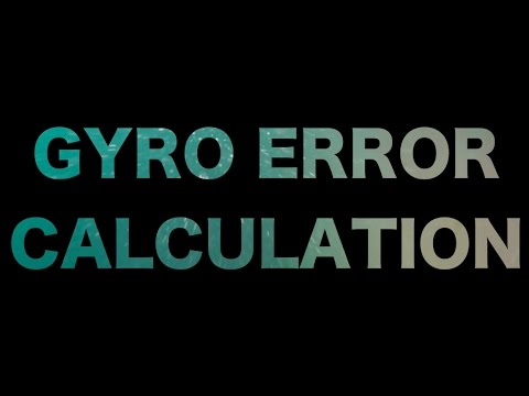 Gyro Error Hesabı (HD)