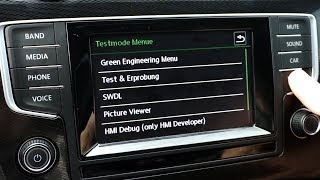 VW Composition Media system green hidden menu