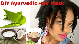 Ayurvedic HAIR Mask for Intense moisture and coil definition DIY AloeVera Gel and Coconut Milk