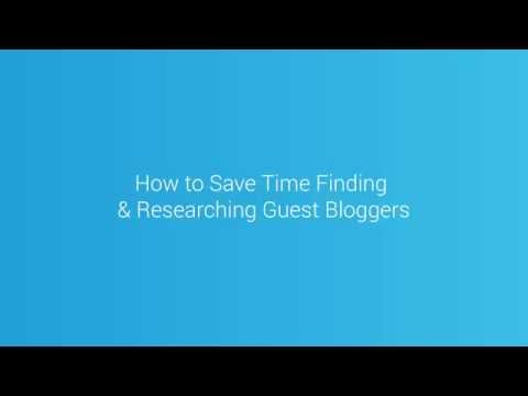 Save Time Finding Guest Bloggers