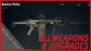 World War Z All Weapons Upgrades, Customization and Heavy | Xbox One, PS4 & PC!