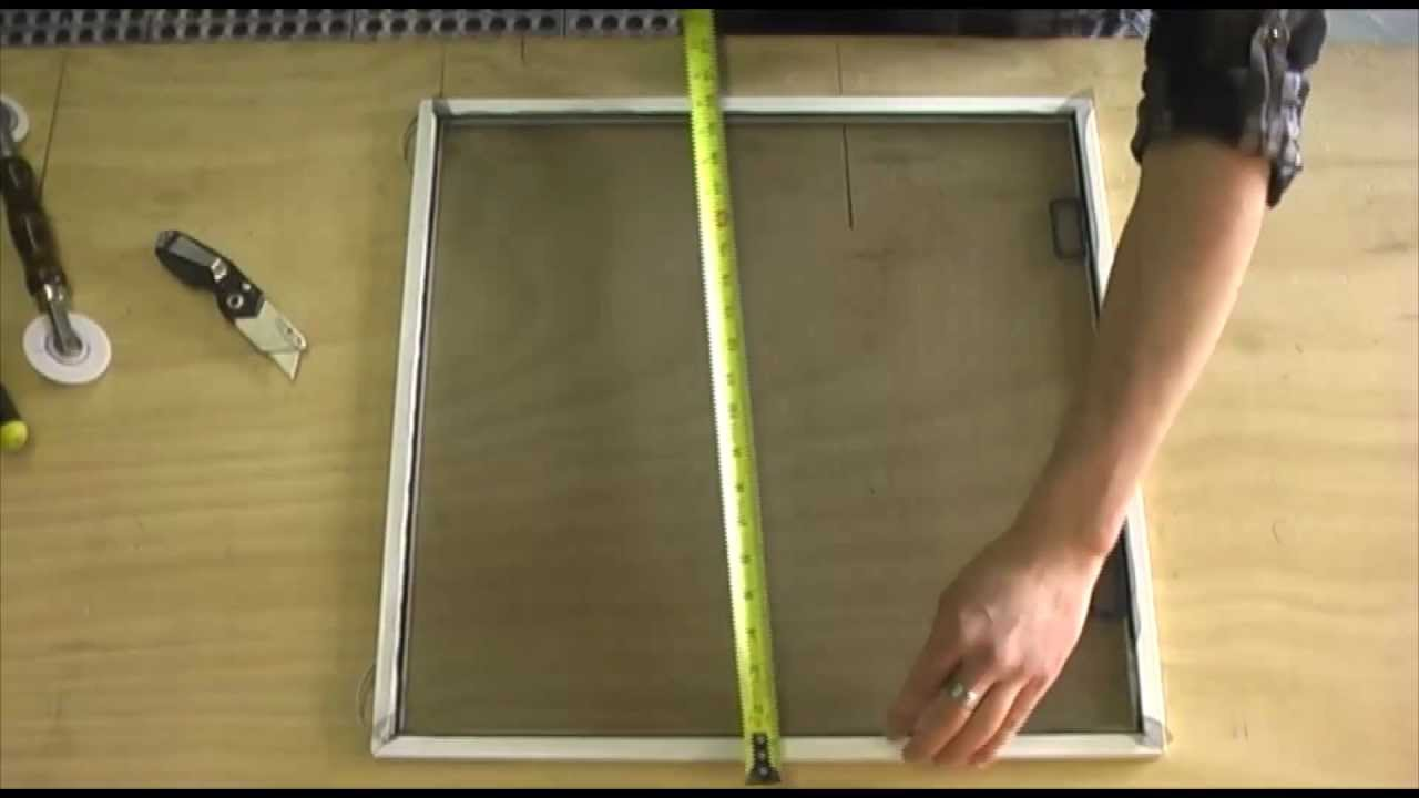 how to make a window screen youtube