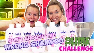 Don't Choose THE WRONG SHAMPOO SLIME CHALLENGE Nina Vs Kathi - Wer macht den besten DIY SCHLEIM?