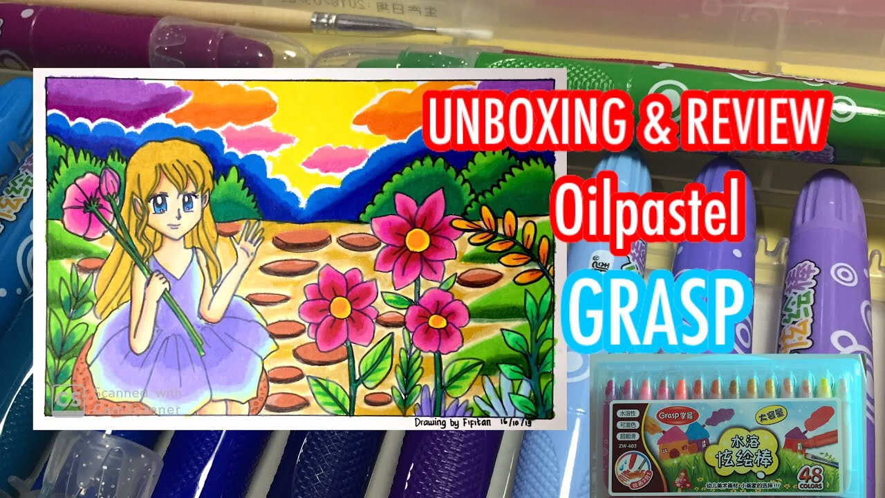UNBOXING DAN REVIEW OILPASTEL GRASP