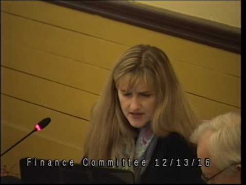 Finance Committee Meeting 12/13/16